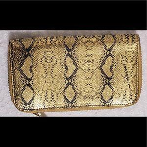 Marc Jacobs Golden Snake Embossed Wallet